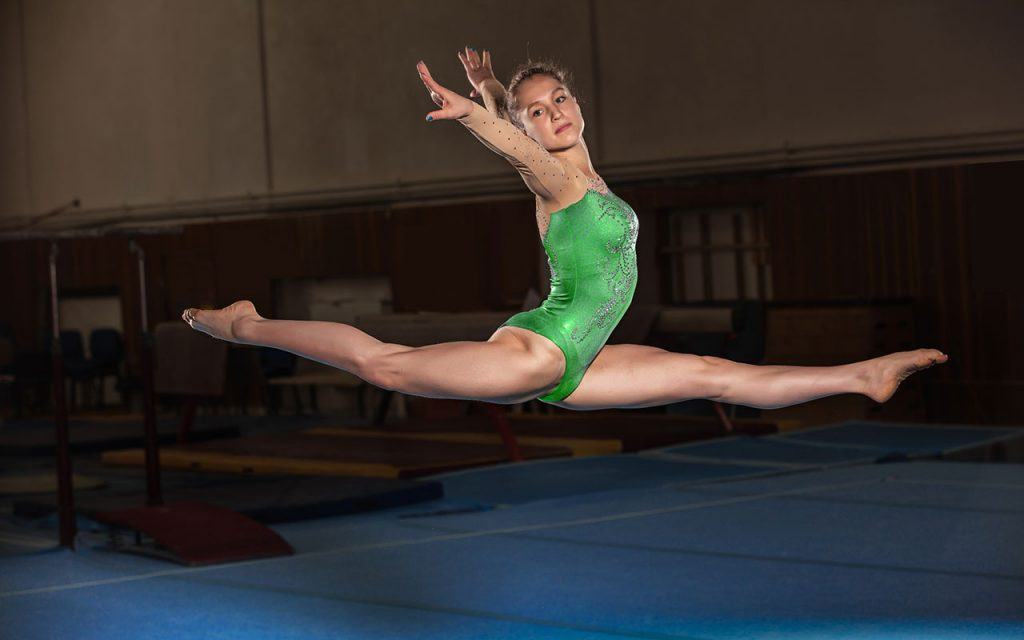 Gymnastics floor routine